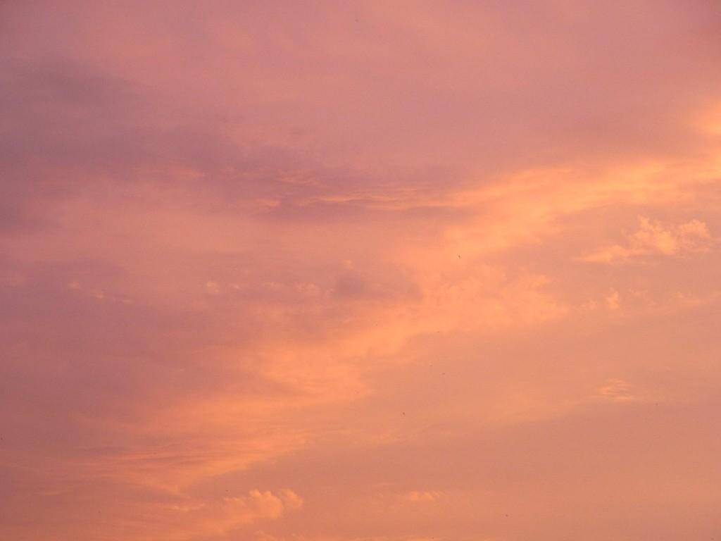 Abendhimmel orange