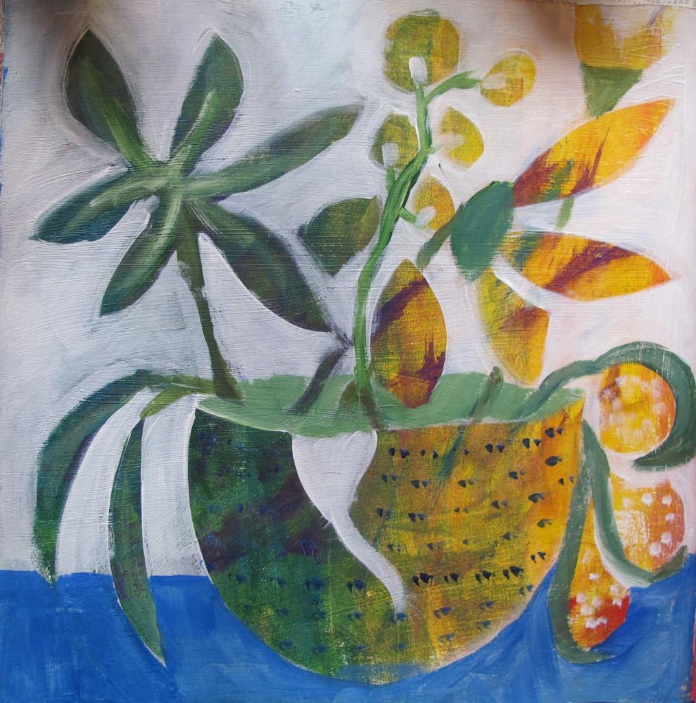 Blumen gemalt